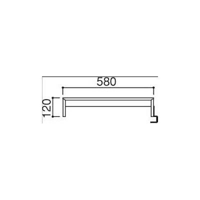 岡村製作所 ファルテ2 コアデスク専用ブリッジシェルフ ダーク 幅350×奥行600×高さ120mm(直送品)