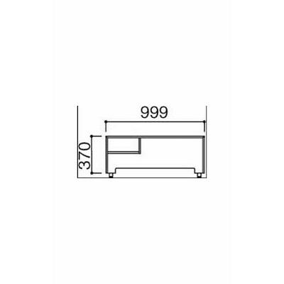 岡村製作所 ファルテ2 コアデスク・シンプルデスク兼用ゲートシェルフ 幅1000×奥行190×高さ370mm ナチュラル (直送品)