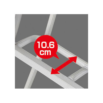 Hasegawa(長谷川工業) アルミ合金 三脚 スタンダードグリーンステップ 9段 (9尺 271cm) GSC-270T 1台 (直送品)