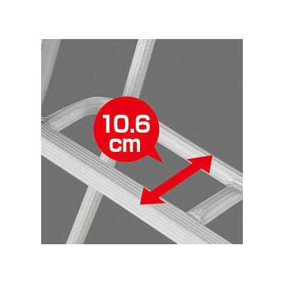 Hasegawa(長谷川工業) アルミ合金 三脚 スタンダードグリーンステップ 10段 (10尺 301cm) GSC-300T 1台 (直送品)