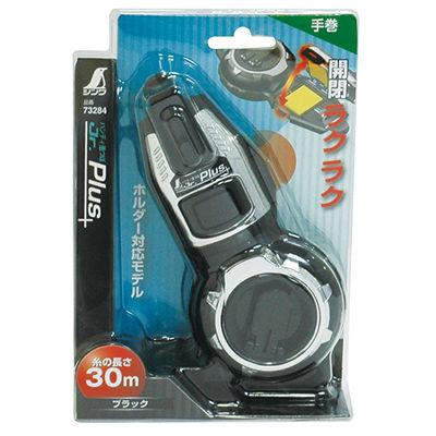 シンワ測定 ハンディ墨つぼ Jr. Plus 手巻 ブラック 73284 1セット(6個) (直送品)