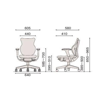 イトーキ cassico(カシコ) オフィスチェア T型肘付 背面:樹脂タイプ(ブラック) 背座:コーラルピンク 1脚 (直送品)