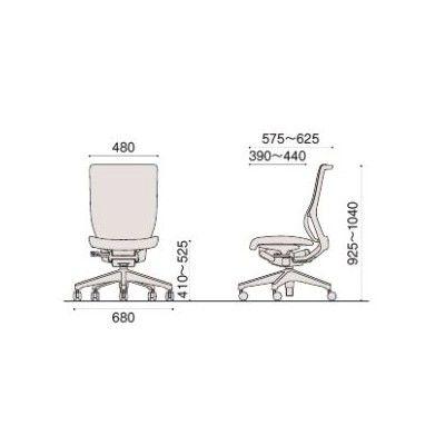イトーキ エピオスチェア クロスタイプ ハイバック(グレー) 肘なし フリーロッキング 背:グレー 座:グレー 1脚 (直送品)