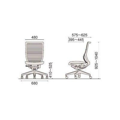 イトーキ エピオスチェア メッシュタイプ ハイバック(グレー) 肘なし フリーロッキング 背:ホワイトグレー 座:グレー 1脚 (直送品)