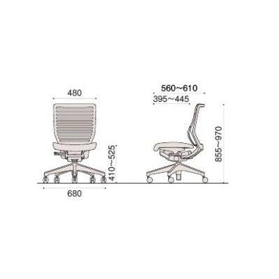 イトーキ エピオスチェア メッシュタイプローバック(ブラックフレーム ブラック樹脂脚)肘なし フリーロッキング 背:ホワイトグレー 座:ブラック 1脚(直送品)