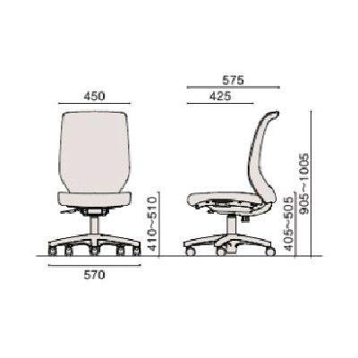 イトーキ コルトチェア ホワイト 肘なし 背:ブラックメッシュ 座:プラムパープル 1脚 (直送品)