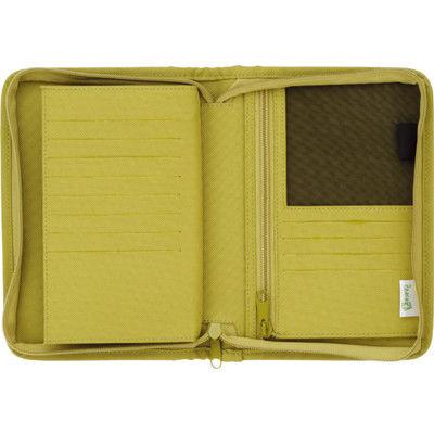 通帳&カードケース スキットマン 黄緑