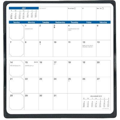 2019年度4月始まりダイアリー クオバディス 見開き1ヶ月 レフィル ターコイズ 1冊 (直送品)