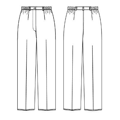 ナガイレーベン パンツ ホワイト L FE-4503 (取寄品)