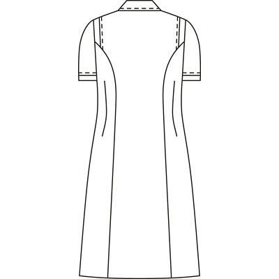 KAZEN ワンピース半袖 (ナースワンピース) 医療白衣 ホワイト 4L 003-20 (直送品)