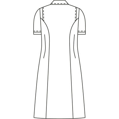 KAZEN ワンピース半袖 (ナースワンピース) 医療白衣 ピンク 4L 003-23 (直送品)