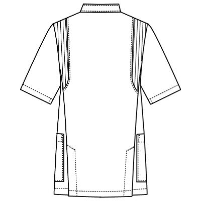 フォーク 男子医務衣(ケーシージャケット) 1010CR-7 ネイビー S (取寄品)