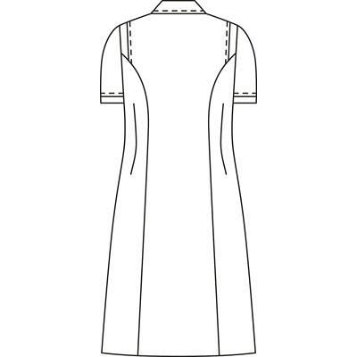 KAZEN ワンピース半袖 (ナースワンピース) 医療白衣 サックスブルー(水色) S 003-21 (直送品)