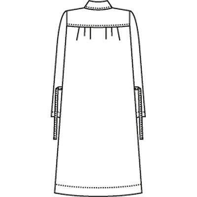 ナガイレーベン ナースワンピース(マタニティ)7分袖 HS-986 サックス M (取寄品)