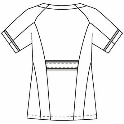 フォーク チュニック ホワイト L 2012CR-1 1枚 (直送品)