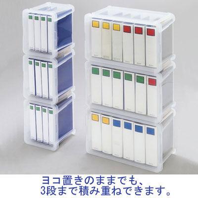 アイリスオーヤマ ファイルコンテナ(A4ショート) 17L クリア FRC-17 1箱(6個入)
