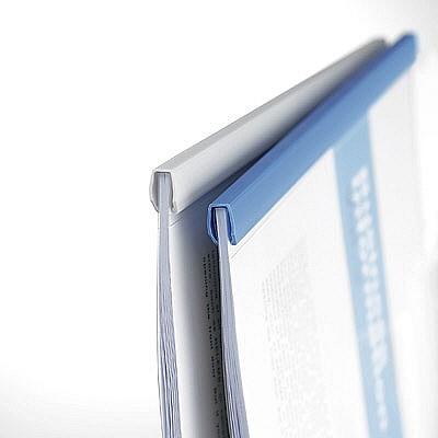 コクヨ レールクリヤーホルダー A4タテ 青 フ-760N×3 1箱(120冊:30冊入×4箱)