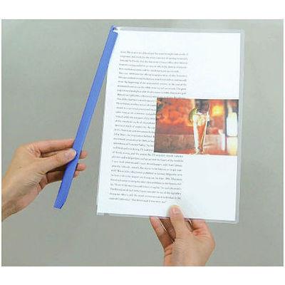 キングジム レールファイル ハッサム 青 502-10アオ 1セット(30冊:10冊入×3袋)