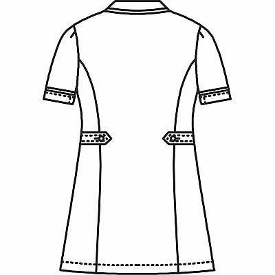 AITOZ(アイトス) ナースジャケット(パイピング) 女性用 半袖 サックスブルー 3L 861338-007 (直送品)