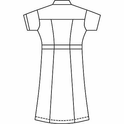 AITOZ(アイトス) パイピングワンピース(ナースワンピース) 半袖 ホワイト LL 861364-001 (直送品)