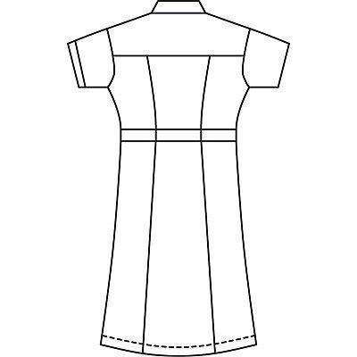 AITOZ(アイトス) パイピングワンピース(ナースワンピース) 半袖 レモンイエロー 6L 861364-019 (直送品)