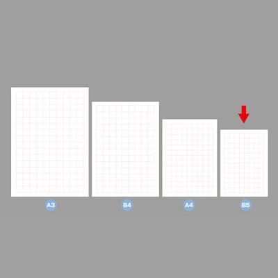 タカ印 POP用紙 B5判 無字 12A7160 1袋(50枚入×10冊) (取寄品)