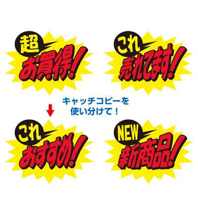 タカ印 クラフトPOP これおすすめ! 13-4072 1袋(10枚入×5冊) (取寄品)