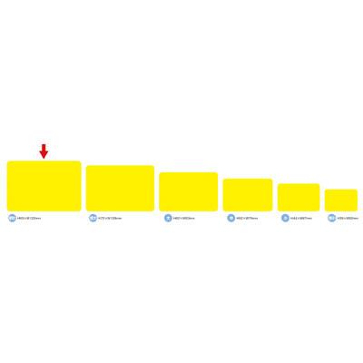 タカ印 ケイコーカード超特大¥なしレモン 14-3585 1箱(30枚入×5冊) (取寄品)
