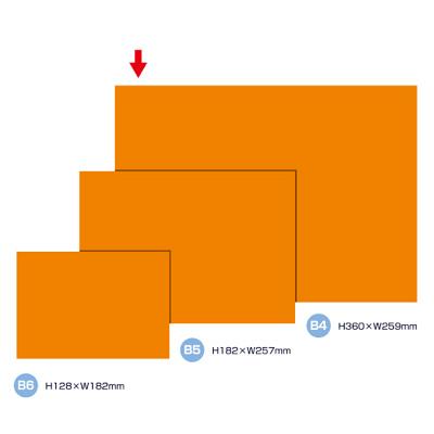 タカ印 ケイコーカード B4判 橙 14-3594 1箱(10枚入×5冊) (取寄品)