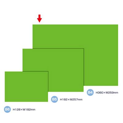 タカ印 ケイコーカード B4判 緑 14-3596 1箱(10枚入×5冊) (取寄品)