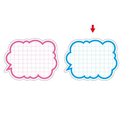 タカ印 抜型カード 吹出し型 ブルー 16-126 1箱(50枚入×5冊) (取寄品)