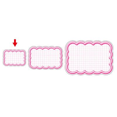 タカ印 抜型カード 立体枠 雲型 ¥なし 16-4086 1箱(50枚入×5冊) (取寄品)