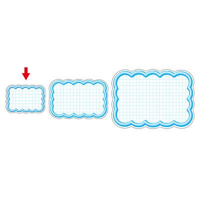 タカ印 抜型カード 立体枠 雲型 ¥なし 16-4087 1箱(50枚入×5冊) (取寄品)