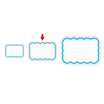 タカ印 抜型カード 波四角 中 ブルー 16-4154 1箱(50枚入×5冊) (取寄品)
