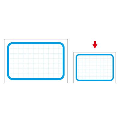 タカ印 カード 小 ブルー枠 16-4276 1箱(50枚入×5冊) (取寄品)