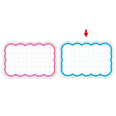タカ印 抜型カード 波四角 特大 ブルー 16-4491 1箱(30枚入×5冊) (取寄品)