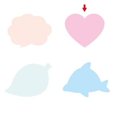 タカ印 シルエットカード ハート 16-7006 1箱(30枚(10色各3枚)入×5冊) (取寄品)