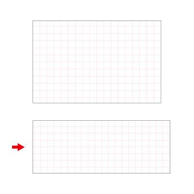 タカ印 ショーカード 長型 アミ目入無字 17-5708 1箱(50枚入×5冊) (取寄品)