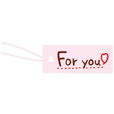 タカ印 スーパー提札 桃 19-850 1箱(100枚入×5袋) (取寄品)