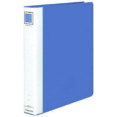クリヤーブックタフボディ 替紙式A4 青