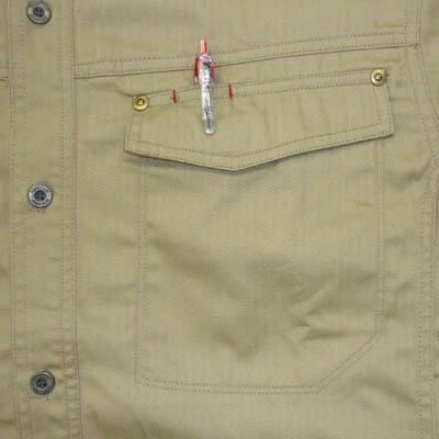 カジメイク スーパーソルジャーシャツ キャメル L 6682 (取寄品)