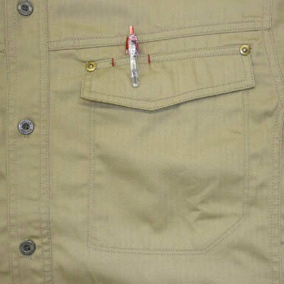 カジメイク スーパーソルジャーシャツ キャメル 4L 6682 (取寄品)