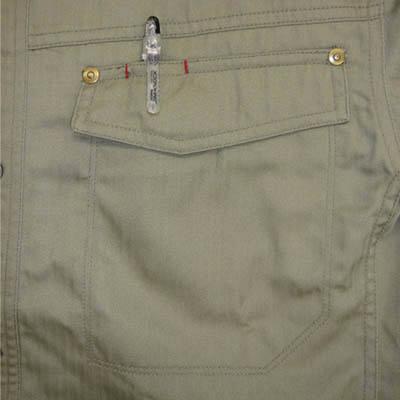 カジメイク スーパーソルジャーシャツ モカG L 6682 (取寄品)