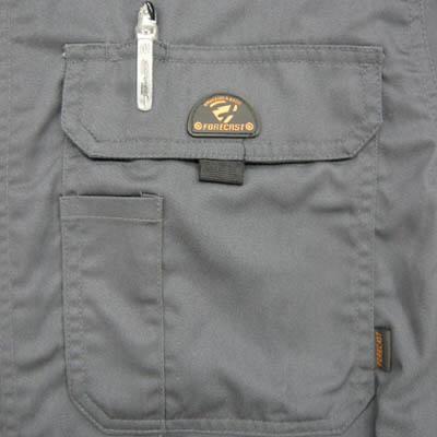 カジメイク T/C長袖股ハギつなぎ服 チャコール・G 3L 6609 (取寄品)