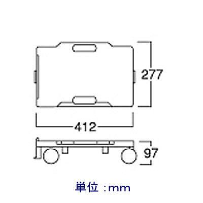 河淳 リカーキャリア 24C 100kg荷重 1台 BP019 (直送品)