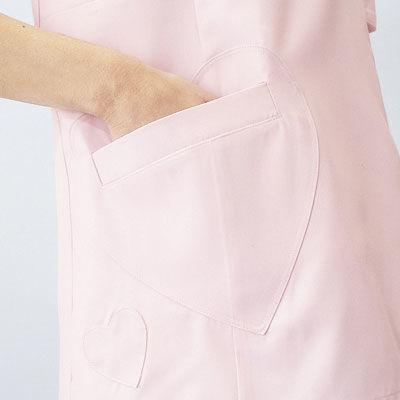 ショートエプロン(ハートポケット) AIT861371 ピンク L
