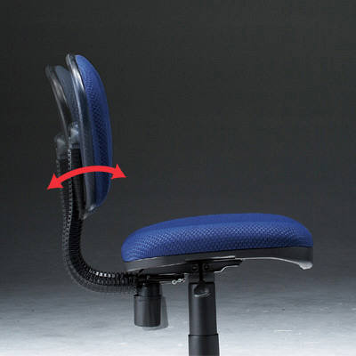 サンワサプライ 低反発OAチェア オフィスチェア 肘無し ブルー SNC-MU1RBLK 1脚 (直送品)