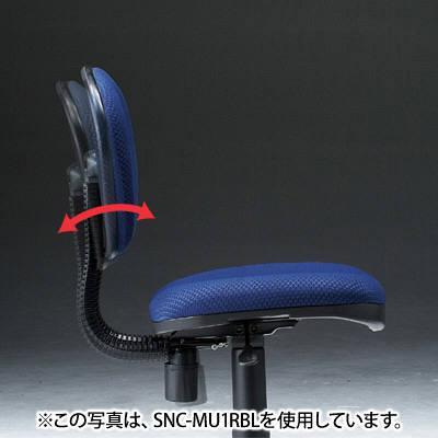 サンワサプライ 低反発OAチェア オフィスチェア 肘無し グレー SNC-MU1RK 1脚 (直送品)
