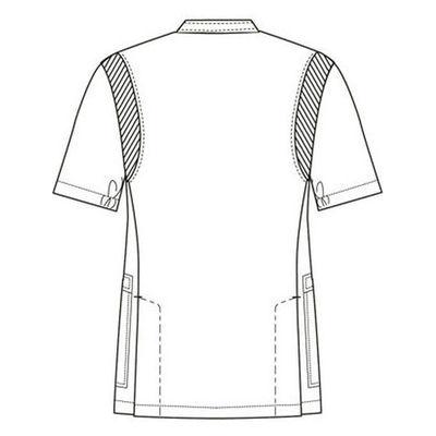 フォーク 男子医務衣(ケーシージャケット) 1010CR-1 ホワイト M