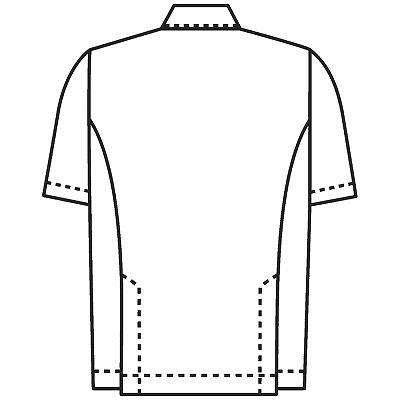 KAZEN 医務衣(男女兼用) ホワイト 762-70-S 1枚 (直送品)
